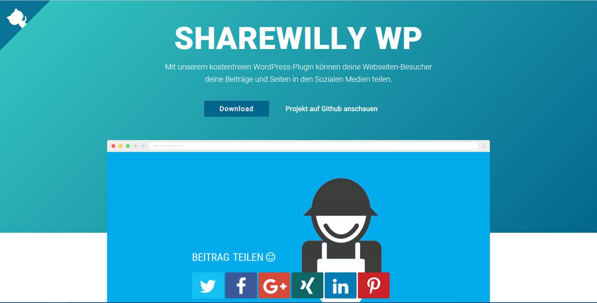 Einfach teilen mit Sharewilly WP – Ein kostenfreies WordPress-Plugin